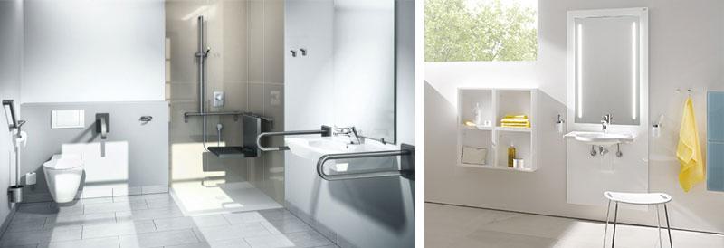 Aangepast sanitair in de badkamer: beugels en in hoogte verstelbare wastafel