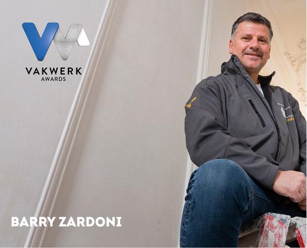 Vakwerk Awards genomineerde Barry Zardoni